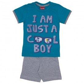 conjunto menino cool boy camiseta verde ceramic e bermuda de moletinho mescla 4228 02