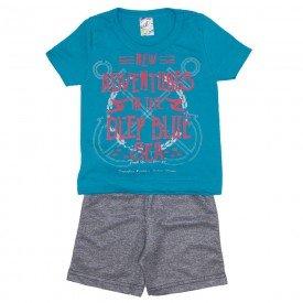 conjunto menino camiseta verde adventures e bermuda de moletinho mescla 0316 02