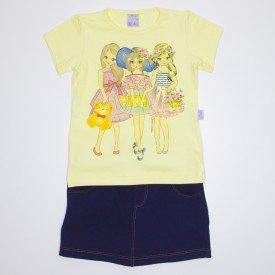 conjunto bonecas strass amarelo 1070 que 1070 ama 01