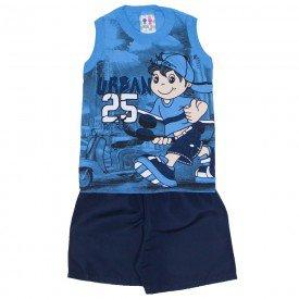 conjunto menino regata machao azul ceu urban e bermuda de tactel marinho 266 01