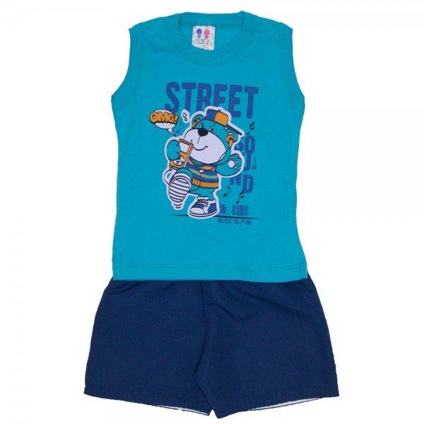conjunto menino regata machao verde street e bermuda de tactel azul jeans 267 01