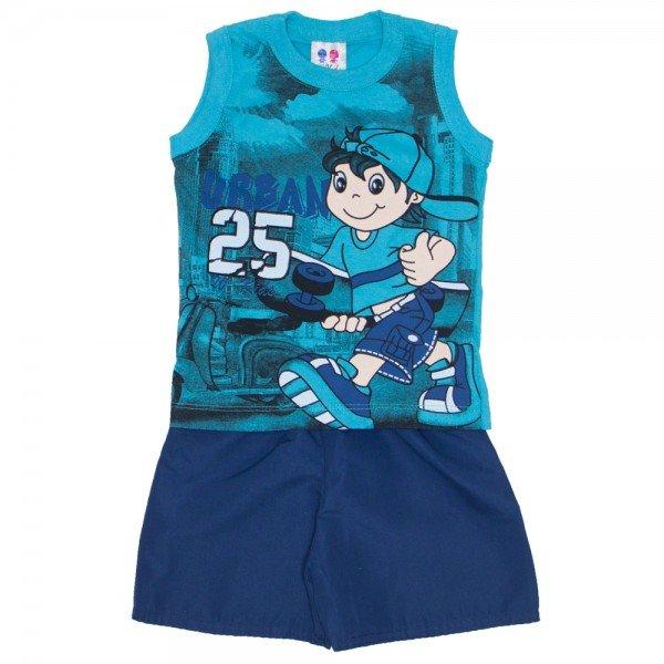 conjunto menino regata machao verde urban e bermuda de tactel azul jeans 266 01