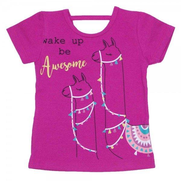blusa de cotton pink estampa lhama com detalhe nas costas 3475 01