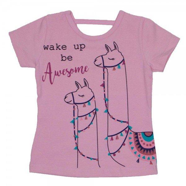 blusa de cotton rosa bebe estampa lhama com detalhe nas costas 3475 01