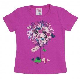 camiseta de cotton pink estampa com strass 3473