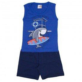conjunto menino regata machao azul e shorts de moletinho marinho 7473c 02