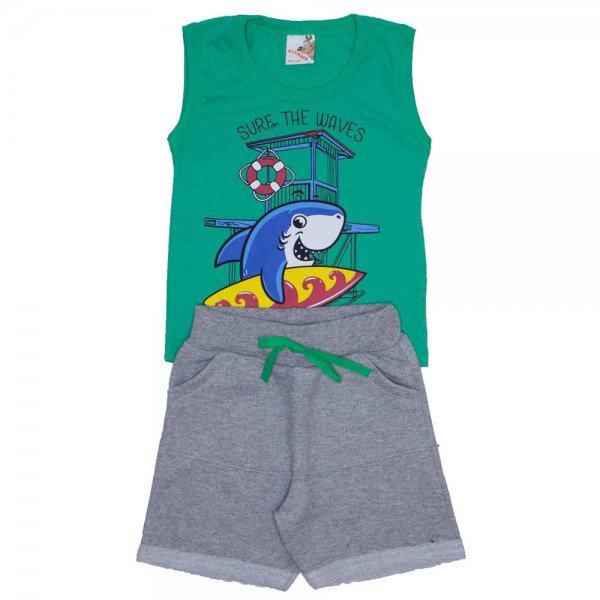 conjunto menino regata machao verde e shorts de moletinho mescla 7473c 01 f72158c2958