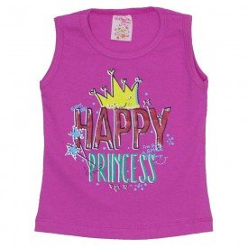 regata de cotton pink happy princess com strass 2475