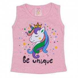 regata de cotton rosa unicornio be unique com strass 2472