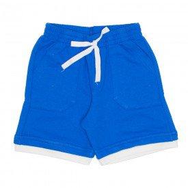 shorts de moletinho azul bainha dupla bolso frontal e cordao 7485 01