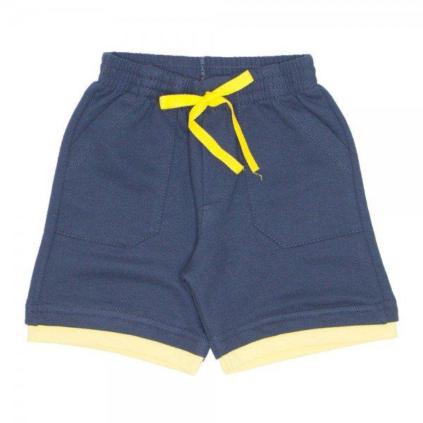 shorts de moletinho chumbo bainha dupla bolso frontal e cordao 7485 01