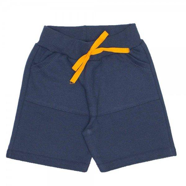 shorts de moletinho cor chumbo com cos bolso frontal e cordao 7480