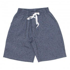 shorts de tecido chambray chumbo jeans com bolso braguilha e cordao 7488 01