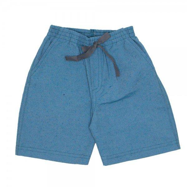 shorts de tecido chambray verde jeans com bolso braguilha e cordao 7488 01