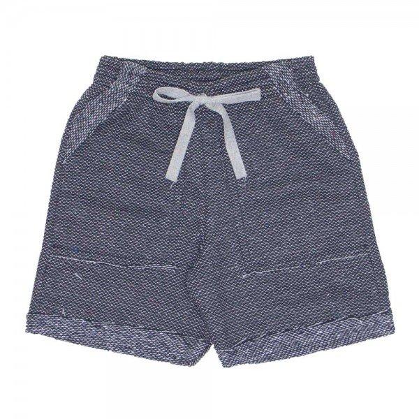 shorts de tecido denin preto com bolso e cordao 7486 01