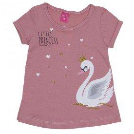 blusa de meia malha rosa blush cisne com glitter 1163
