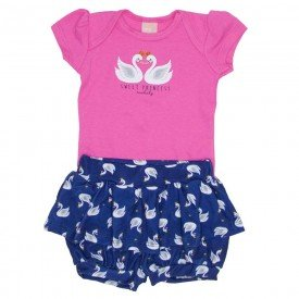 conjunto body suedine rosa chiclete e shorts saia marinho 0038