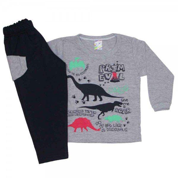conjunto menino inverno dinossauros mescla 0331