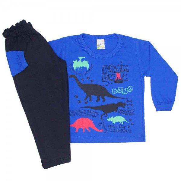 conjunto menino inverno dinossauros azul 0331