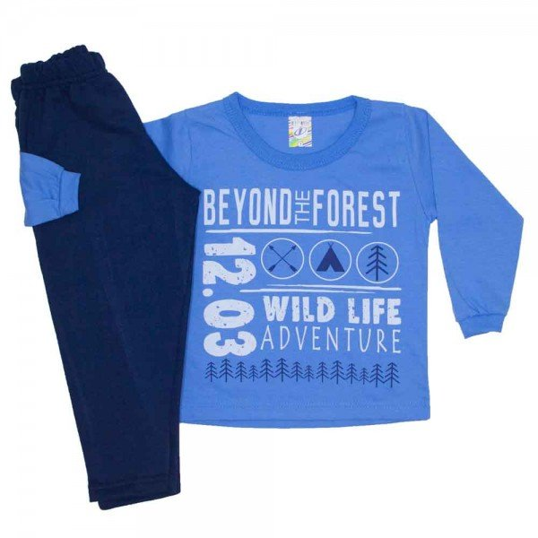 conjunto menino inverno beyond the forest azul claro 0330