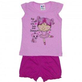 conjunto menina rosa silk bailarina e short bombachinha wkd 199 ros 01