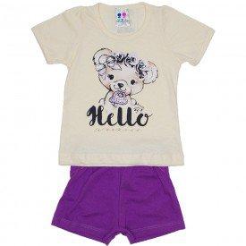 conjunto menina off silk hello urso e short wkd 198 off 01