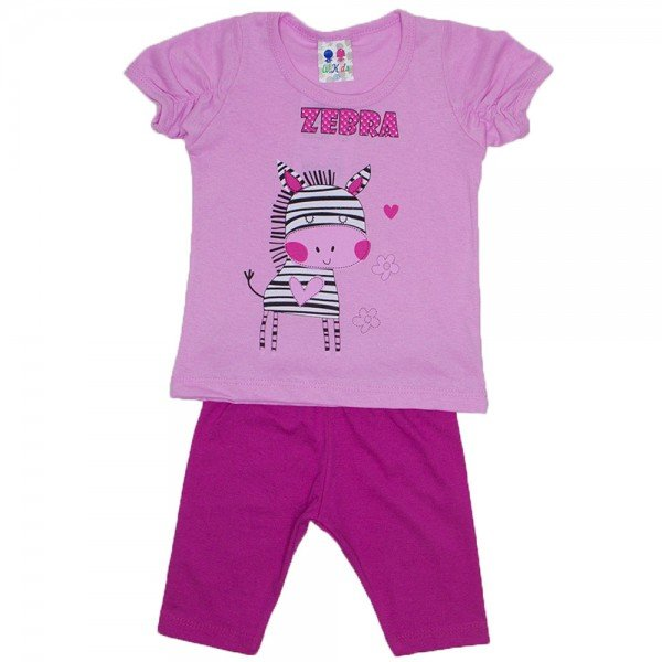 conjunto menina rosa silk zebra com legging wkd 197 ros 02
