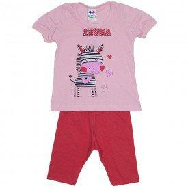 conjunto menina rosa bebe silk zebra com legging wkd 197 rob 02