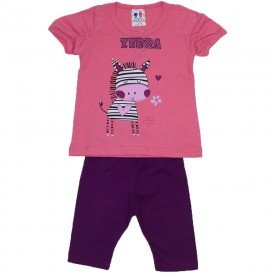 conjunto menina papoula silk zebra com legging wkd 197 pap 01