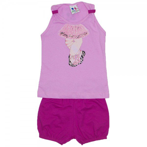 conjunto menina rosa silk ballet e shorts com elastico wkd 196 ros 02