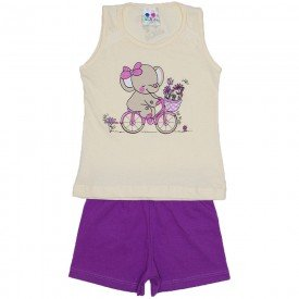 conjunto menina off silk elefante com glitter e shorts wkd 195 off 01