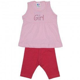 conjunto menina rosa bebe com strass e ciclista laranja wkd 194 rob 01 2