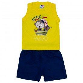 conjunto menino amarelo com silk little marinheiro e bermuda tactel wkd 202 ama 01