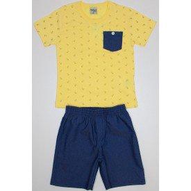 conjunto amarelo com jeans marinho flame e bermuda de chambray did 7656 ama 01