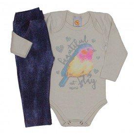 conjunto passarinho body e legging jeans off 8703