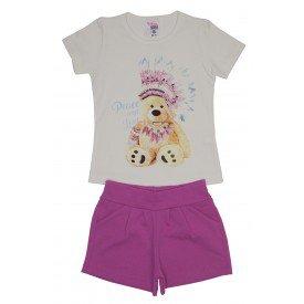conjunto blusa off urso com strass e shorts rosa ale 3419 off 01