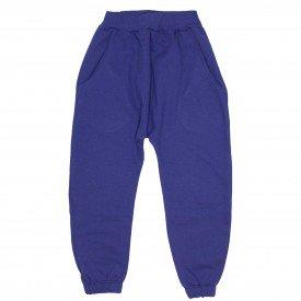 calca saruel com bolso na cor azul 9502