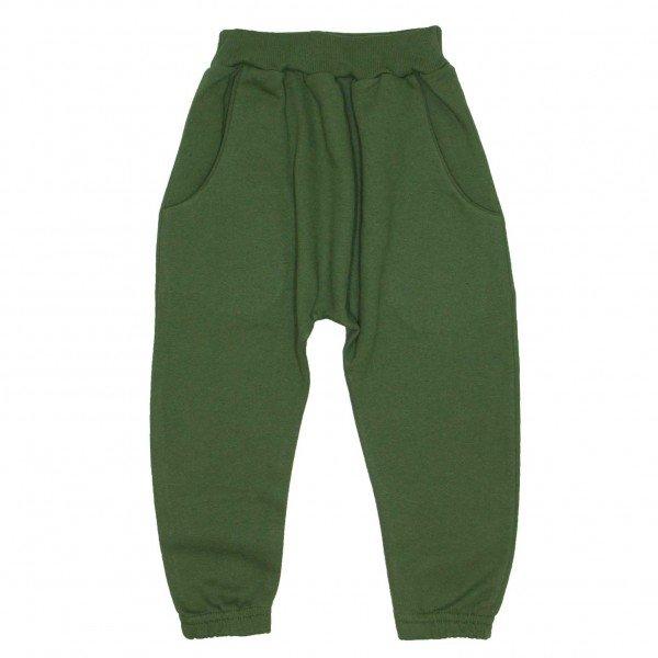 calca saruel com bolso verde militar 9502