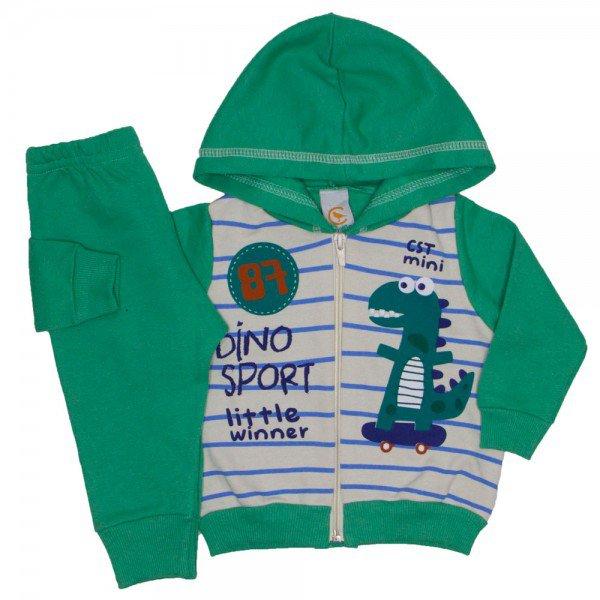 conjunto dino sport verde 8605