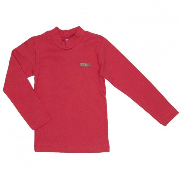 blusa basiquinha ribana vermelha 8805