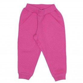 calca moletom com bolso basica rosa 9501