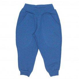 calca moletom com bolso basica azul 9501