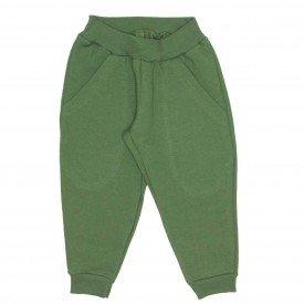 calca moletom com bolso basica verde militar 9501