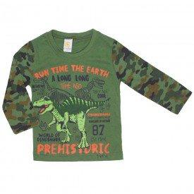 camiseta dinossauro prehistoric verde militar 8806 01