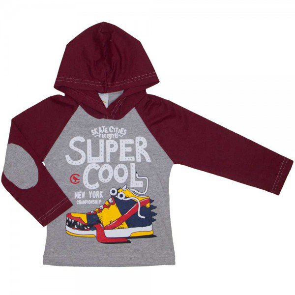 camiseta infantil super cool mescla 8811 01