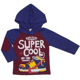 camiseta infantil super cool vermelha 8811 01