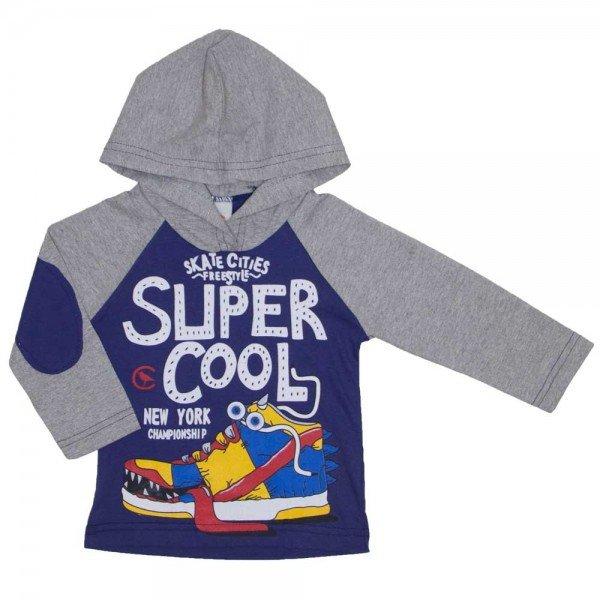 camiseta infantil super cool azul 8811 01