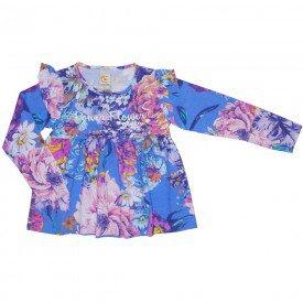 blusa bata power flower azul 8906 01