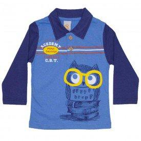 camisa polo mini genius azul 8802
