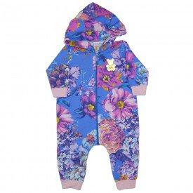 macacao mini bear floral azul 8701